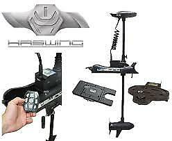 Haswing Cayman B55 Bow Mount Trolling Motor W/quick Attached Bracket & Foot Cont