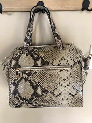 def5ffbf80d5 Kate Spade SAVANNAH PARLIAMENT SATCHEL snake embossed leather NWT. Gift Box  incl