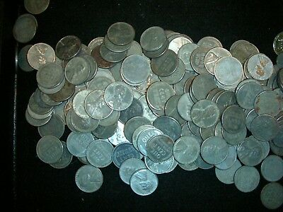 1943 Steel Wheat Penny Roll P+D+S  50 Coins