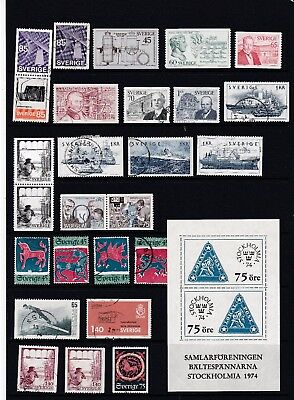Sweden - Attractive Run of Stamps   2 SCANS (0421 Ma Sw)