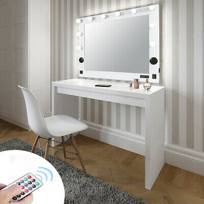 Hollywood Vanity Makeup Mirror w/ Led Light Dimmer USB SD Slot Bluetooth Speaker