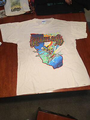 Grateful Dead Vtg Used Lot  California Skeleton Surfer tShirt Gildan US Reprintt