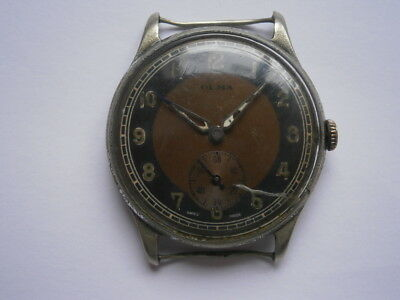 Vintage gents wristwatch OLMA mechanical watch working need service swiss made