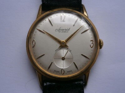 Vintage gents wristwatch ACCURIST mechanical watch working AS 1002 swiss made