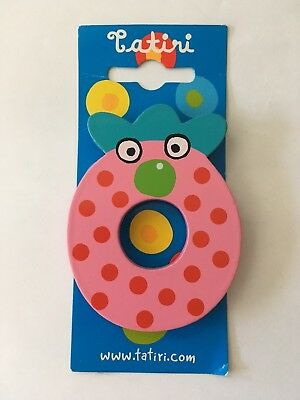"New Tatiri Animal Painted Wood Letter ""O"""