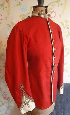 Brilliant Victorian 19th Century 1870s Scarlet Officers Tunic 52nd Reg Foot