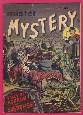 Mister Mystery 1 4.0 Or 4.5 C Ow Pch Pre Code Horror 1951 Ga Golden Aragon