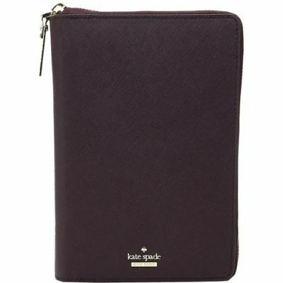 KATE SPADE CAMERON STREET ZIP AROUND Planner Agenda MAHOGANY LEATHER NEW $198