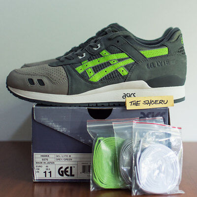 free shipping 1515f 837f8 ASICS X RONNIE Fieg Gel Lyte III Super Green DS 11 kith salmon toe, cove  NEW!