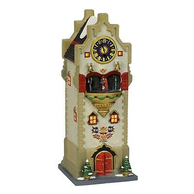 Rhineland Glockenspiel Alpine Village Dept 56 6000564 Christmas snow animated A