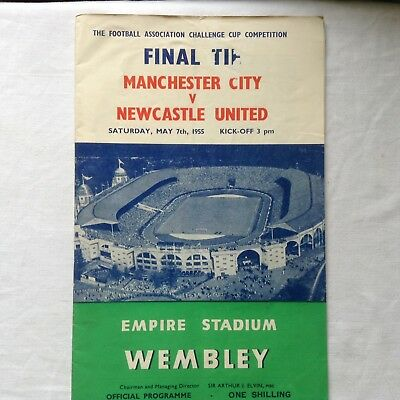 MANCHESTER UNITED:-- MANCHESTER CITY v NEWCASTLE UNITED  1954/55 F.A.CUP FINAL.