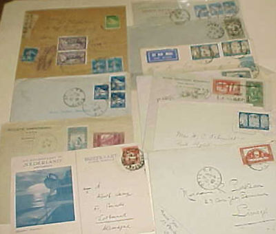 Algeria  12 Small Covers 1927-1939 Mostly To Usa Includes Registered