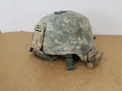 Gentex Size Large ACH Advanced Combat Helmet Surefire IR Light 8470-01-529-6344