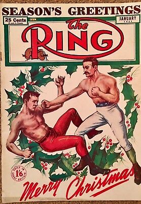 The  Ring Boxing Magazine.  Xmas Special Jan 1951 . Gt Cond