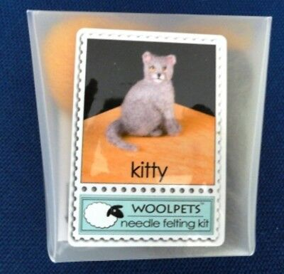 New and sealed Woolpets 'Kitty' complete needlefelting kit. Intermediate