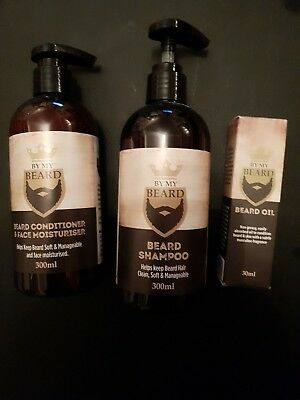 by my beard conitioner, shampoo and oil