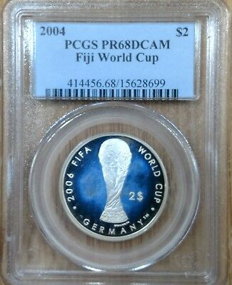 Fiji - 2006 Germany FIFA World Cup Silver coin PCGS PR68DCAM