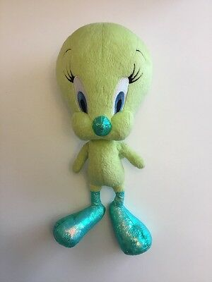 "Green Tweety Bird Plush 13"" Stuffed Animal Warner Bros Mattel"