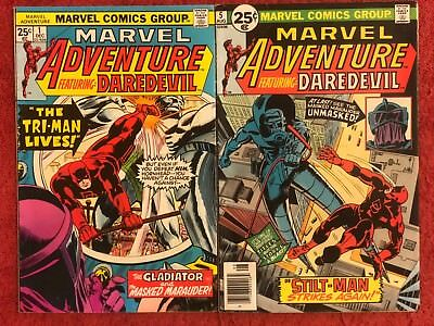 Marvel Adventure featuring Daredevil 1 5 Marvel Lot of 2 1975 Lee Colan Ayers