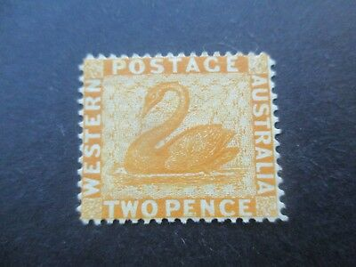 Western Australia Stamps: 1882 2d Yellow Swan Mint  (n161)
