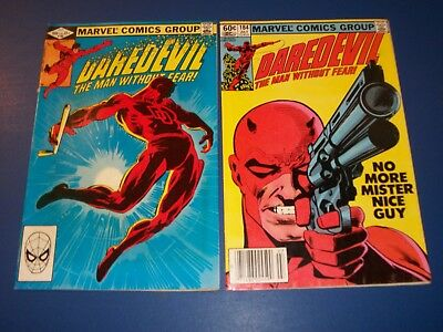 Daredevil #184,185 Bronze Age Miller lot of 2 Punisher Fine+ to VF+ Beauties