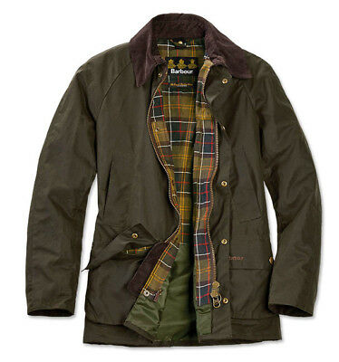 Barbour Ashby Wax Jacket L Olive Slightly Used