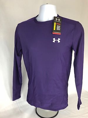 Under Armour Mens HeatGear Compression Long Sleeve Shirt Blue or Purple $35 MSRP