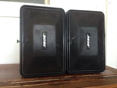Bose 101 Monitor Speakers, All-Weather, With Mount Screws, Used Tested Good 7/10