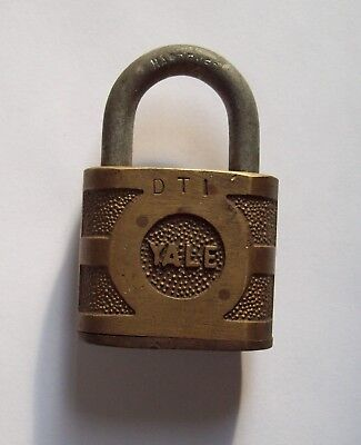 Vtg Yale Brass Padlock, Old Lock, Yale & Towne, Antique, Larger, No key