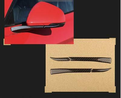 Carbon Fiber Side Wing Mirror Protect Sticker Cover Trim For Ford Mustang A07