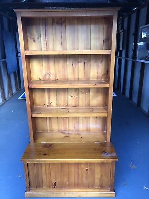 Pine Bookcase With Storage Drawer Solid Timber Kids Bookcase