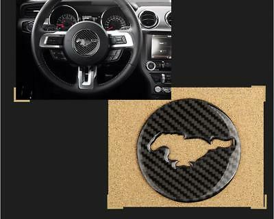 Carbon Fiber Steering Wheel Trim Sticker Cover Trim For Ford Mustang A01