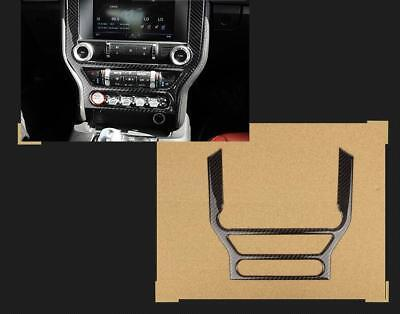 Carbon Fiber Air Conditioner CD Media Dash Cover Trim For Ford Mustang A10
