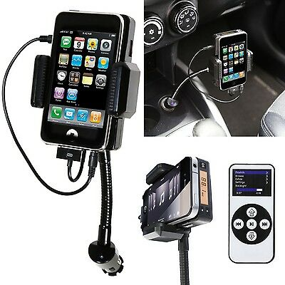 360 All In One Hands Free FM/MP3 Kit FM Transmitter Car Charger + Remote Control
