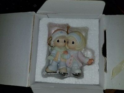 """Precious Moments Christmas Ornament """"Warmed By Your Love"""" 710020  2006 RARE"""