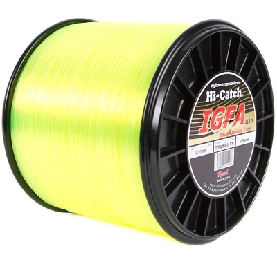 Momoi Hi-Catch IGFA 15kg to 37kg Mono Bulk Spools Yellow