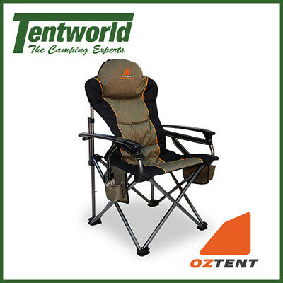 Oztent King Kokoda Quad Fold Camping Chair With Protective Carry Bag