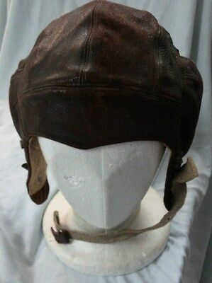 #Ww.  Early  Soft  Leather Flying Pilot Cap, Small Size