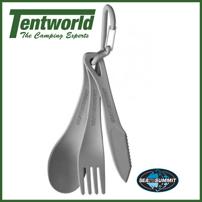 Sea To Summit Camp Cutlery Set - 3 Pieces - Charcoal