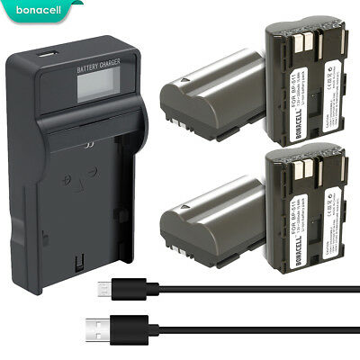 7.2V 2200mAh BP-511 BP-511A Li-Ion Battery for Canon EOS 40D 50D 5D 20Da TP