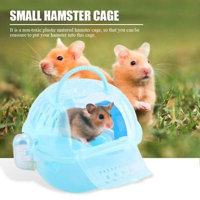 Portable Pet Hamster Travel Carrier Plastic Hamster Cage House Eat Play House