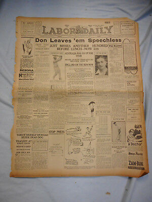 #T114.  COLLECTION OF 1930s LABOR DAILY NEWSPAPERS, INCOMPLETE