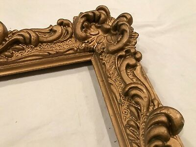 Antique 37x29 French or Italian Baroque Large 19th Century Gold Picture Frame