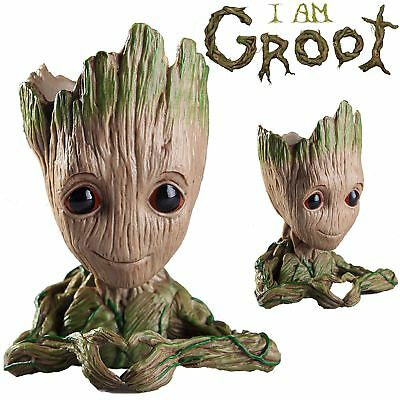LOVE HEART 16CM Guardians of The Galaxy Baby Groot Figure Style Pen Pot Toy