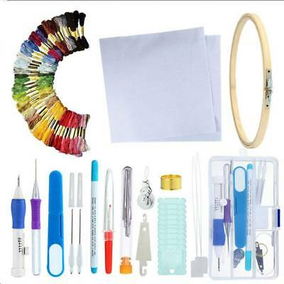 80pcs Magic Embroidery Pen Punch Needles Threaders Stitching Punch Pen Set Craft