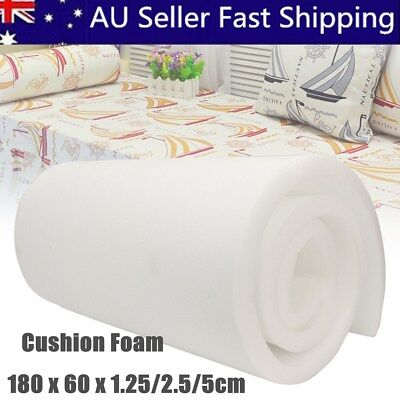 71x24'' High Density Upholstery Foam Seat Cushion Replacement Firm Pad 0.5/1/2''