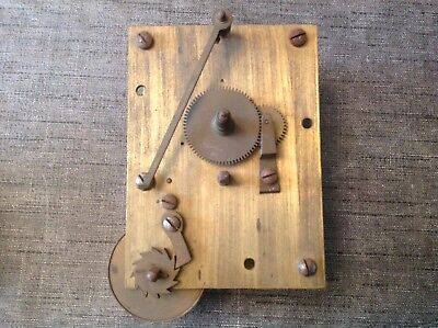 Antique Fusee Chain Clock Movement for Spare Parts  or Repair 145x105mm