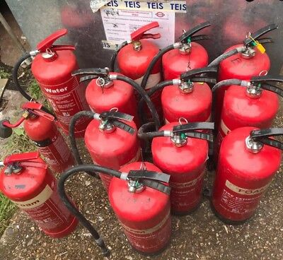 13 FIRE EXTINGUISHER HOME OFFICE CAR KITCHEN....JOB LOT..foam, water & co2