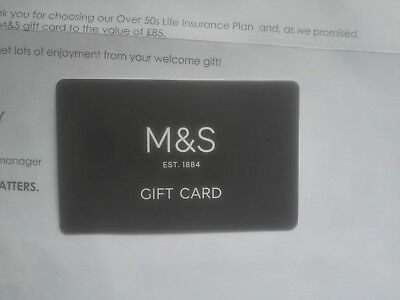 M&s Gift Card £85 Full
