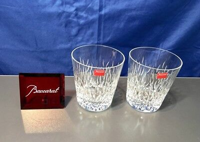 Baccarat Crystal Bali Set 2 Gobelet Old Fashion - 2101916 - NEW IN BOX